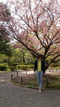 兼六園と桜と私。