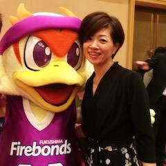 福島ファイヤーボンズのマスコット「ボンズくん」! サインも出来るんです♪