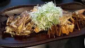 大きな煮魚!! 初めて食べました!