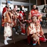 ひろの七福神の皆さんです♪他には太鼓の演奏、フラダンスのステージも・・・