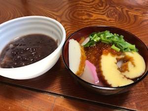 先日、仙台地方のお雑煮をご馳走になりました!