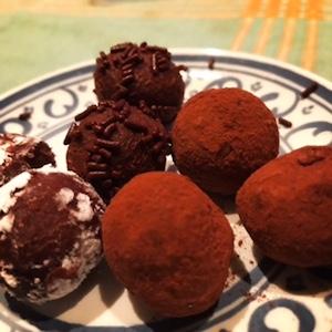 3種類のチョコトリュフを作りました。