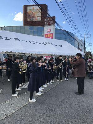 9:08 小名浜第一中学校の皆さんが、演奏でランナーを応援すべく、リハーサルしています♪