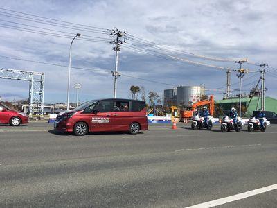10:26 報道車がアクアマリンパークを通過します!