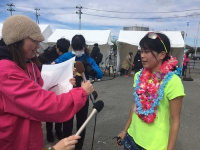 11:59 女子トップ永田選手!!フィニッシュ!! お疲れ様でした!