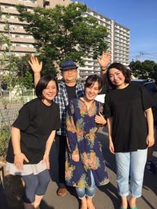 女優に囲まれてご満悦な私♪いつもと違三和さんと那実ちゃんが見られてとても楽しかったです。あんなにセリフが覚えられるなんてすごいわ~