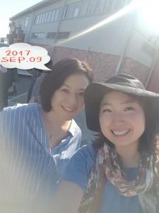 おまけ☆彡 出雲三和さんと小名浜マリンパークへ。 正確にはお芝居の仲間たちと一緒でした♪ 秋晴れの青い空、青い海。最高でした! 三和さん担当のサタデープラザは来週9/30(土)です。お楽しみに♪
