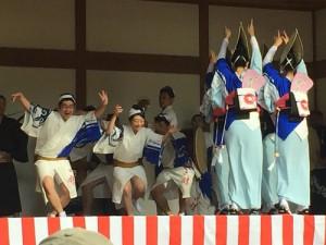 東京渋谷区の踊り手さんたち。このお祭りには今年7回目の参加だそうです。
