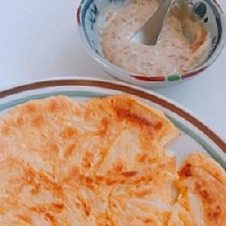SUGAのほっこりクッキング~~♪先週のちえちゃんのコーナーのお料理を即作ってみました。粉を入れすぎて、お好み焼きみたいになりましたが、醤油麹マヨ最高!
