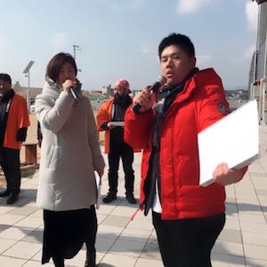 2月24日(土)、道の駅よつくら港で行われた「たまごフェスタ」!こんなに笑いまくって司会して良いのか?ってくらい笑ってました^^
