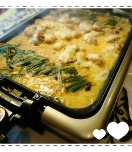 ホットプレートでチーズタッカルビ風✨ 友人と食材を買って作って、飲んで~食べて~( 〃▽〃) たくさん笑ってリフレッシュできました✨