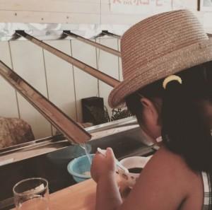田村市の「入水鍾乳洞」で食べた流しそうめん。ヒンヤリしに出かけてみては?