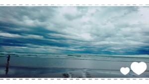 最終日の薄磯海水浴場。 もっとお日様が出ていたらなぁ。