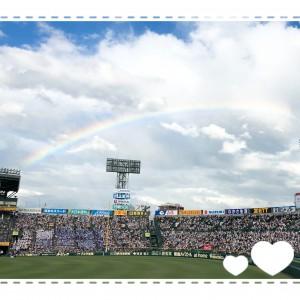 甲子園の閉会式でかかった虹✨ 私もテレビ中継で虹見ました!球児のみなさん、感動をありがとう。
