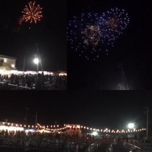 浜の祭り花火