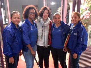 ニカラグア女子野球チームの代表4人が来日。いわきでの交流会に参加しました!みんな可愛い^^