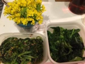 季節はずれの菜の花