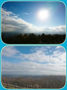 ☆おまけ☆ 湯ノ岳の展望エリアからの景色。お天気も良く気持ちよかったです。下の写真は小名浜の方。実際に見るとマリンタワーも小さく見えました(*^-^*) リフレッシュ☆