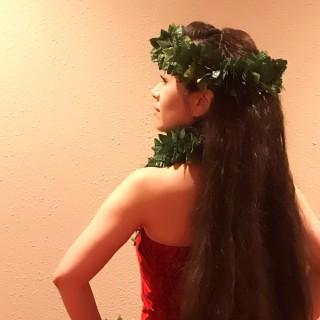 第1部の1曲め!大好きな火山の女神Peleの曲をいわきチームで踊りました。