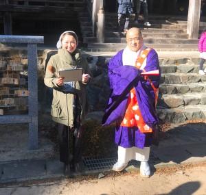 お話しを伺ったのはご住職の上野宅正さん。 毎年ありがとうございます(^-^)✨