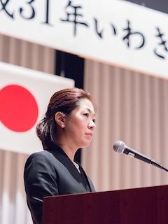 3月11日、いわき市の東日本大震災追悼式。 司会を務めさせていただきました。