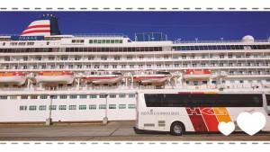 観光バスと比べてみてください、この大きさを・・・。
