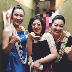 なんてぜいたくなスリーショット写真!ちょっともう、言葉が出ないくらい感動です!マルヒア由佳理さんと、モアナ梨江さんと。