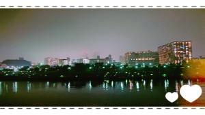 先日東京へ行った帰りのバスからの一枚。 キラキラ。 キレイな夜景ですね。