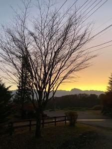 秋の夕日2019