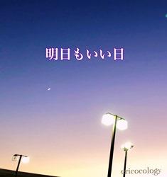 2019冬の夕暮れ三日月