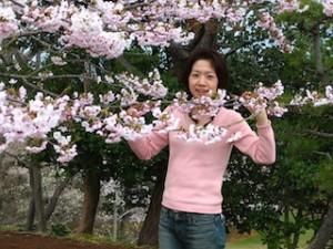 こちらも同じ日に撮影した御幸山公園の桜(多分)。若い・・・。