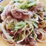 牡蠣と舞茸、春キャベツのパスタ♪ウマ