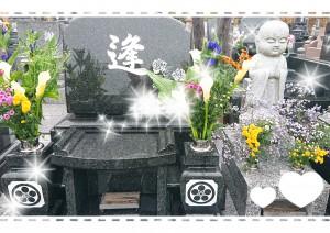 祖母の命日にお墓参りへ。 今年で13年。 早いなぁ・・・。 いつもそばで見守ってくれているような気がします。 まだじーちゃんのお迎えには来ないでね、とお願いしてきました(*^-^*)
