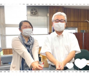 コチラは番組ブログにも載せた写真ですが、お話しを伺った吉田先生とのエアー剣道の写真です(笑) ぜひ専用ブログも覗いてみてくださいね👀✨