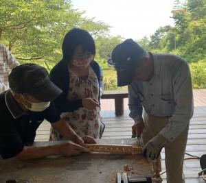木工クラフト教室の模様