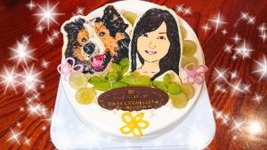 私とうちの長男の誕生日が同じなんです。 (厳密には数日違うんですが💦) ということで、特注の似顔絵ケーキを作ってもらいました✨ すすすすごい!!1