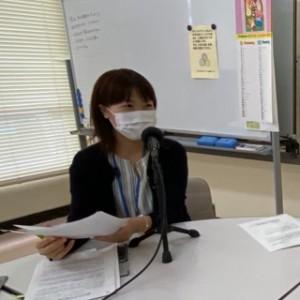 ボランティア活動センター  センター長であり社会福祉士の鯨岡姫代美さん。
