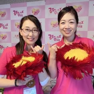 プロデューサーの曽我泉美さんと、配信が終了してホッとした笑顔でのツーショット!