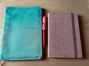 新しい手帳はスモーキーなピンク色にしました!