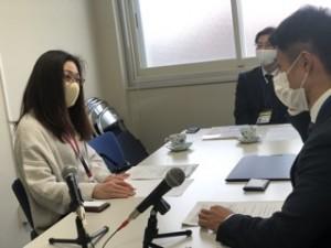 中央はいわき税務署総務課長の岩渕俊博さん。FMいわきもよく聞いてくださっているそうです!