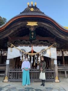 本殿をはじめ楼門や神楽殿などなど重要文化財が多い飯野八幡宮です。建物も必見!