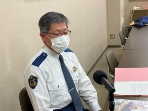 お話を伺ったのは、 いわき中央警察署 交通第一課長 福島県警部 松崎 郁郎(いくお)さん。