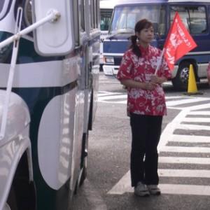 ハワイアンズのバス停で、お客様を待っている時。隠し撮りされた(笑)