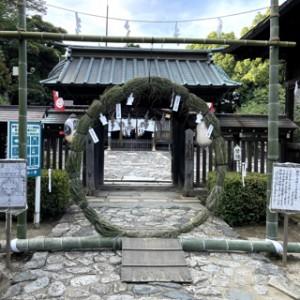 6月30日、上半期の穢れを払ってきましたよ!飯野八幡宮の茅の輪です。