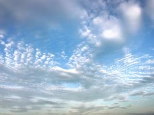 ついこの間まで入道雲だったのになぁ~