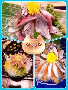ここ数年で頂いた秋刀魚のお刺身。 以前も登場した写真をダイジェスト風に✨