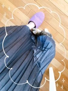 お友達のおうちのにゃんこ(=^・・^=) スカートの中からこんにゃちわ(=^・・^=)
